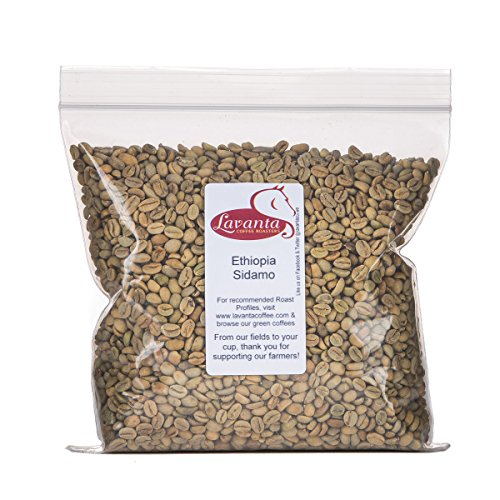 Lavanta Coffee Roasters Ethiopia Sidamo Direct Trade Coffee, Green, 2 lb