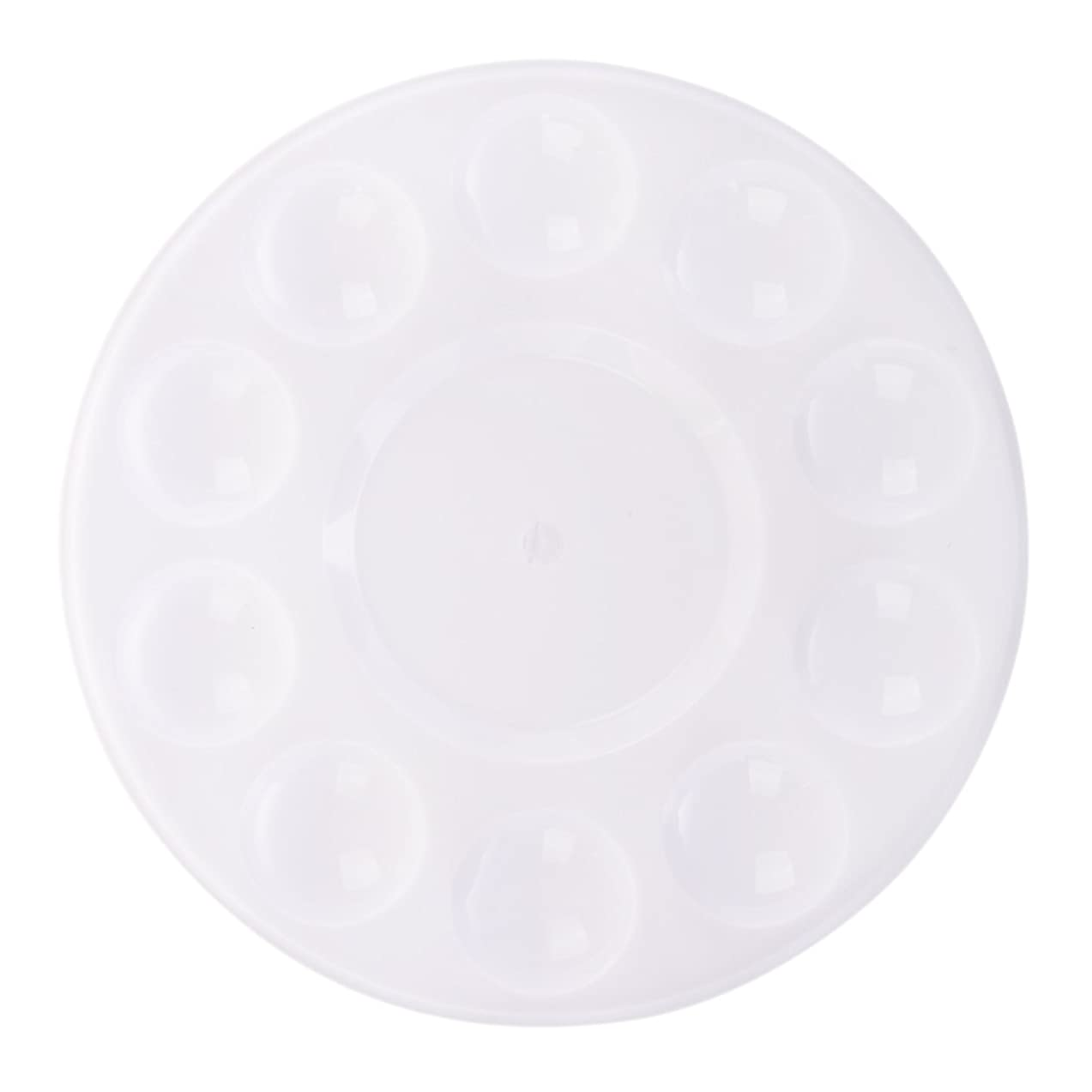 Chris.W 12Pcs Round Plastic Paint Tray Palettes for Acrylic Oil Watercolor DIY Craft Professional Art Painting Art Party Theme Supplies(White)