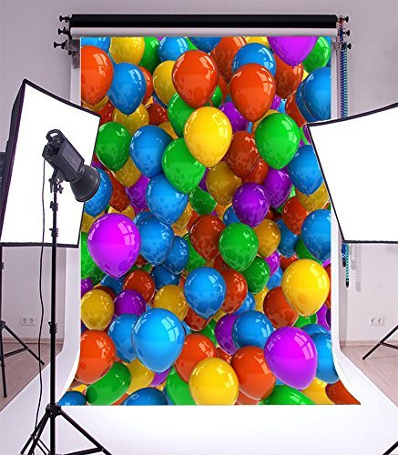5x7ft Photography Backdrop Beautiful Indoor Scene Colorful Balloon Vinyl Background Personal Photo Studio Props