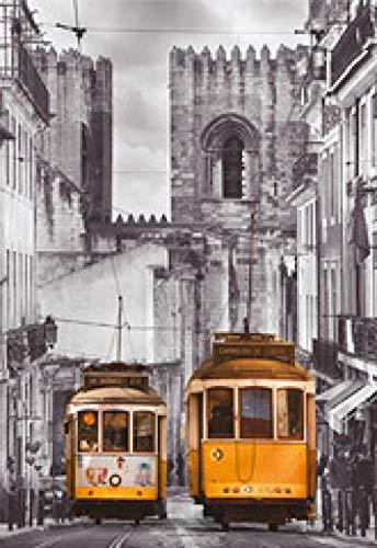 WOMGD® Houten puzzel, puzzels 1000 stuk, kind cadeau Home Decor Modern Festival Diy intellectueel spel - Lissabon oude stad-1000