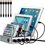 Simicore Charging Station for Multiple Devices, Certified 4 USB Fast...