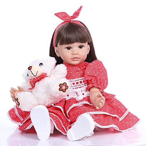 ZIYIUI Bebés Reborns Muñeca 24 Pulgadas Muñeca Reborn Bebé Niño 60 cm Silicona Suave Niño de Muñecos Vida Real Natural Regalos de Cumpleanos Juguetes de los Niños