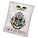 Harry Potter Manta de forro polar, 130 x 170 cm, 180 g/m², poliéster, color blanco