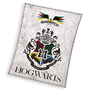 Harry Potter Manta de forro polar, 130 x 170 cm, 180 g/m², poliéster, color blanco 16