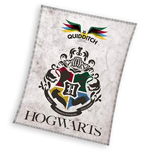 Harry Potter Plaid polaire 130 x 170 cm polyester 180 g/m² Blanc
