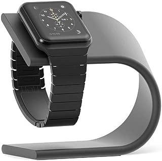 AppleWatch スタンド 充電ケーブル収納 アップルウォッチスタンド アルミニウム製スタンド 黒 (ダーク グレイ)060
