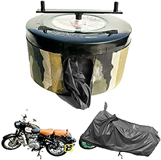BIKEBLAZER Semi Automatic Bike Cover Water Resistant for Royal Enfield Classic 350, 500, Bullet 350, 500 Water Resistant M...