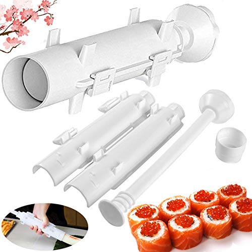 Sushi Making Roller Bazooka maker Kit Professional Upgrade Super Durable Space Mold Food Grade Plastic Camp Chef Rice Vegetable Meat DIY Tube Machine Kitchen Utensils Moldfor Easy Cooking Rolls Tool