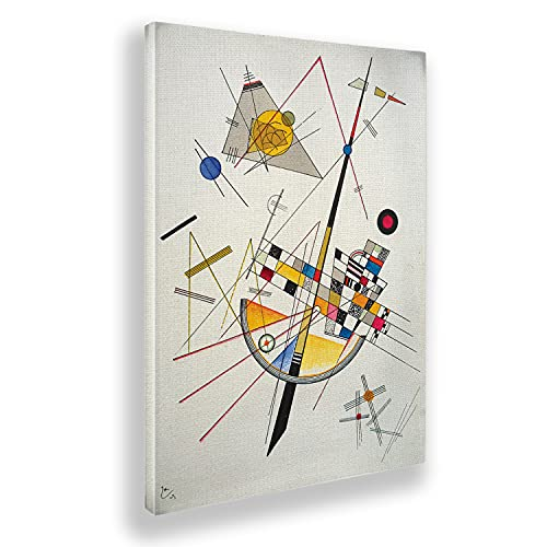 Giallobus - Pinturas - Vassily Kandinsky - Suave tensión - Lienzo - 50x70 - Listo para Colgar - Cuadros Modernos para el hogar