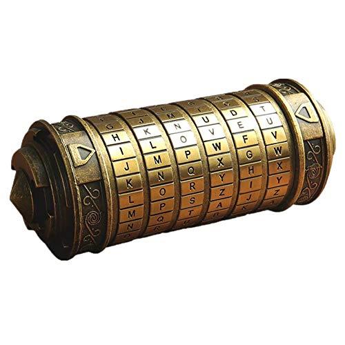 CIFFOST Retro Da Vinci Code Sperren Valentinstag Geburtstag Geschenk mit Herr der Ringe Boxen und Taschen Verpackung (Bronze)