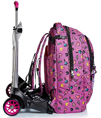 51A5v17So L - Trolley Backpack Seven Jack 2WD Starry Rainbow