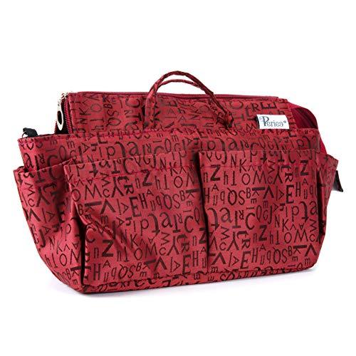 Periea Handtaschen-Organiser, 12 Fächer - Keriea (Rot)