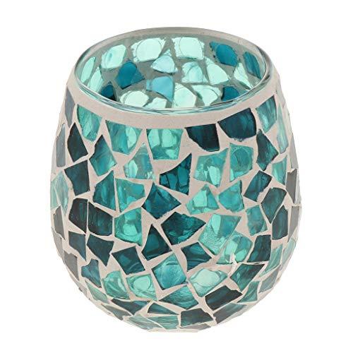 JFCUICAN Eleganter Glasteelicht Candelabra Kerzenleuchter Kerzenleuchter Zubehör Dekoration Premium-Geschenke (Color : 01, Size : 1)