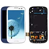 for Samsung Galaxy S3 Screen Display Assembly Replacement i9300 LCD with Touch Screen i9300 LCD Display Glass Panel Digitizer Assembly with Frame Repair Replacement (White)
