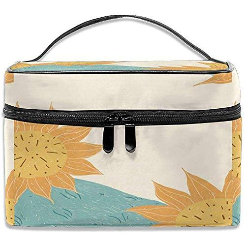 Voyage Sac cosmétique Jaune Sunflowers Toietry Maquillage Sac Pochette fourre-Tout Cas Organisateur stockage-8C0-2RZS