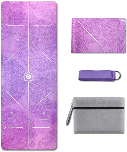 Yoga Mat Foldable 1/16 Inch Thick Non-Slip Travel Yoga Mat Cover Pad Sweat Absorbent...