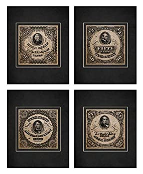 Wallables Beer Stamp Art Prints in Vintage Black & White! Four Stylish 8x10 Mens Wall Decor Art Prints Set Great for Living Room Bar Tavern Pub Bachelor Pad