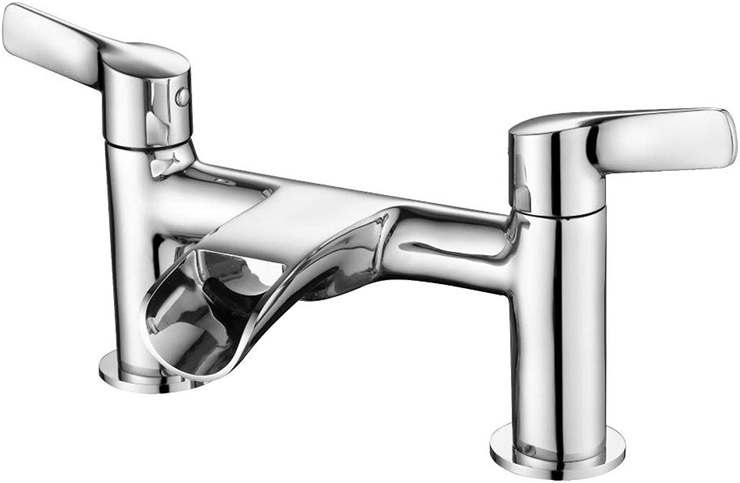 Bathroom Sink Taps Faucet Basin Faucet,Waterfall Water Double Double Open Hot and Cold Water Basin Faucet