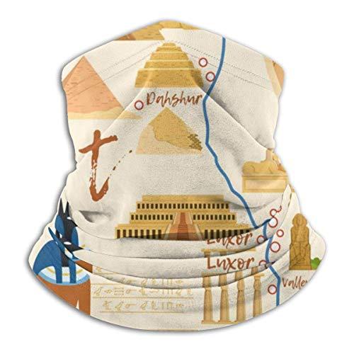 Lzz-Shop gestileerde kaart van Egypte met verschillende culturele hals Warmer -Hoofddeksels brede hoofdbanden sjaal, nek Gaiter hoofdband, Sport sjaal