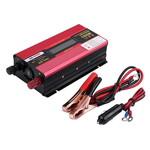 Auto Wechselrichter Auto Fahrzeug Wechselrichter LED-Display Wechselrichter 1000W DC12V bis AC220V Auto Modifizierter Wechselrichter Off-Grid Sinus-Wandler mit LCD-Display
