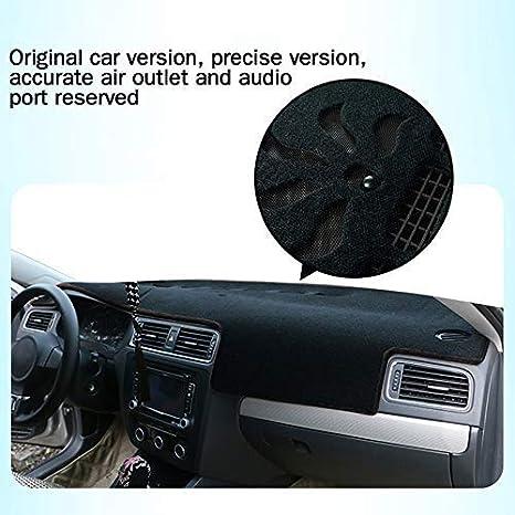 Car Dash Cover for BMW X1 2011-2015 Custom Fit Dashboard Cover Protector Mat Black Carpet Black line Easy Installation Non-slip bottom
