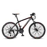 NAINAIWANG Bicicletas montaña 24/26/27,5 Inch Horquilla suspensión de 27 velocidades MTB Marco Acero Carbono Alta Resistencia fortable Urban Commuter Freno Disco Doble para Hombres y Mujeres