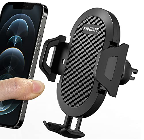 Car Phone Holder Mount, Hands Free Universal Cell Phone Holder for Car, Air Vent Phone Car Holder Compatible with iPhone 12/12 Pro/12 Pro Max/11, Galaxy S20 Samsung Etc.