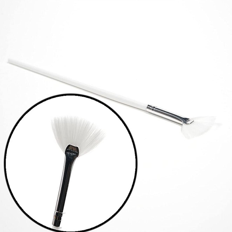 Ecloud Shop 1本ネイルワニスブラシシェイク光線療法ペイントブラシネイルアートマニキュアツールフラッシュチョークブラシホワイトファンシェイプ