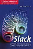 Slack: Getting Past Burnout, Busywork, and the Myth of Total Efficiency (English Edition)