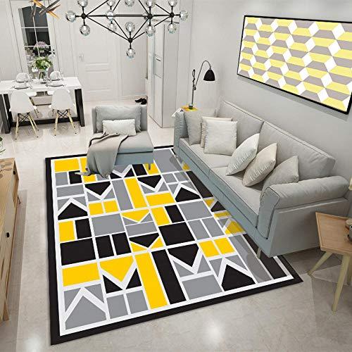 in & Outdoor Modern Design Teppich,Wohnzimmer Exquisite unregelmäßige mehrfarbige geometrische Druckqualität dekorativer Teppich-40x60 cm.