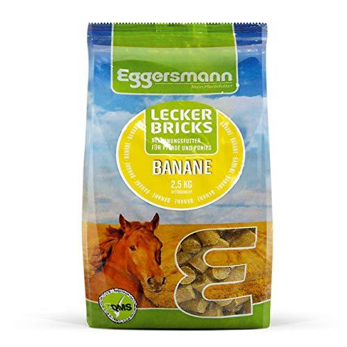 Eggersmann Lecker Bricks Banane – Pferdeleckerlis Banane – Leckerlies für Pferde und Ponies – 2,5 kg Beutel
