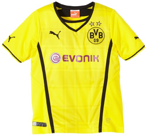 PUMA Kinder BVB Trikot Kids Home Replica Shirt, Blazing Yellow/Black, 176 (UK 34/36) (FRA 16) (ITA 176 ), 743563 01