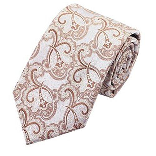 Jason & vogue designer cravate 100% soie et cachemire beige/crème