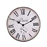NIKKY HOME Redondas Reloj de Pared Paris Tour S konservierungs el 1887 de Francia...