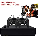 Retro Game Console, HD Video Game Consoole 843 Classic Games 4K HDMI TV Output with 2PCS Joystick for a Great Gifi for Game Player