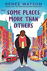 'Some Places More Than Others' book cover with young Black girl walking down a street