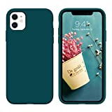 """DUEDUE iPhone 11 Case, Liquid Silicone Soft Gel Rubber Slim Cover with Microfiber Cloth Lining Cushion Shockproof Full Body Protective Case for iPhone 11 6.1"""" for Women Men,Teal"""