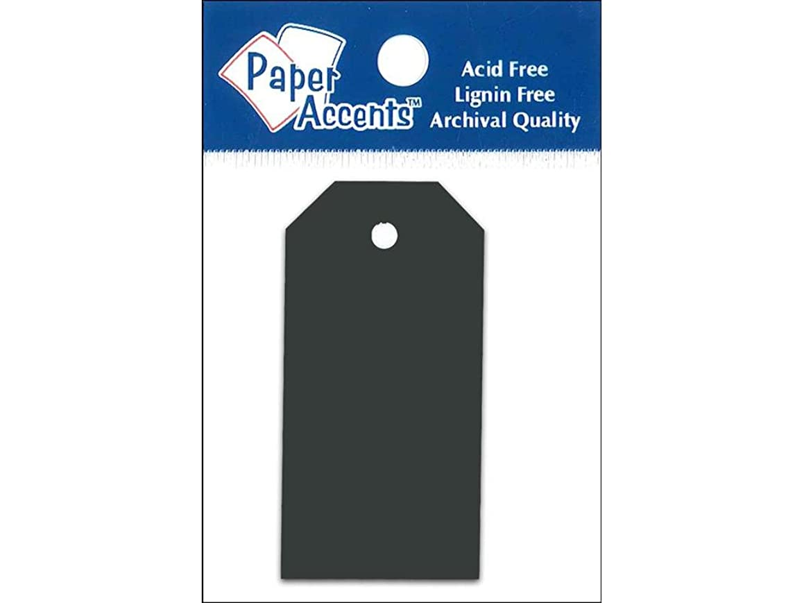 Accent Design Paper Accents 1.25x2.5 Craft Tags Black