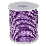 Nylon Twine String Cord Thread for Beading Bracelets Jewelry Making DIY Crafts (2mm-95feet, Light Purple)