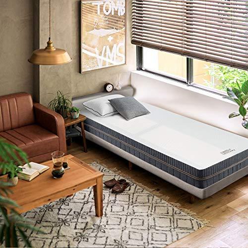 BedStory Matratze 90 x 200 cm, 7-Zonen-Kaltschaummatratze Orthopädisch, 2 in 1 Liegehärten H2&H3 mittelfest Grau