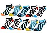 10 Paar Kinder Sneaker Socken Jungen & Mädchen Baumwolle Kindersocken (27-30, 10 Paar | 56566)