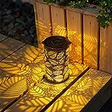 GIGALUMI Lanterne solari Lanterne per giardino pensili in metallo per esterni Ottimo arredamento per giardino, cortile e prato