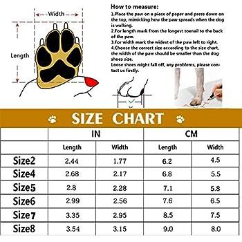 Havenfly 4 pcs Bottes Chien,Chaussures pour Chiens imperméables avec Bretelles réglables réfléchissantes pour Petits Chiens de Taille Moyenne (5)