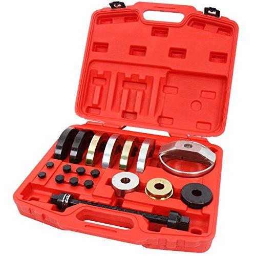 Radlagerwerkzeug im Set inkl. Koffer aus Carbonstahl im umfangreichen Set mit Halbschalen, Druckscheiben, Druckglocke u.v.m. für alle gängigen Fahrzeugtypen geeignet