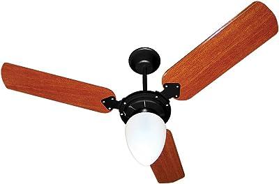 Ventilador Pera New 110/127V 3P, Tron, Preto/Mogno