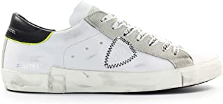 Luxury Fashion | Philippe Model Men PRLUVB07 White Leather Sneakers | Spring-summer 20
