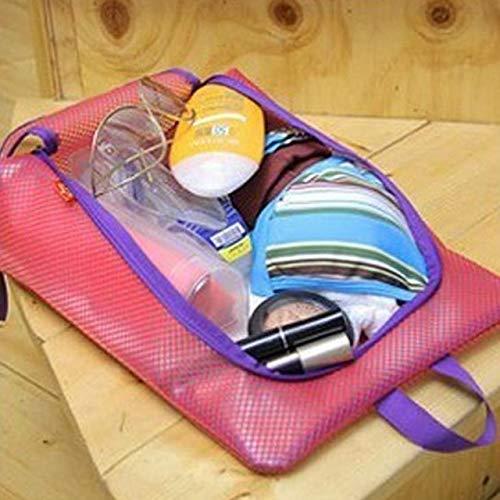 Organisateur de stockage de chaussures pour placard Sacs d'organisateur de stockage de chaussures Sacs de voyage pour chaussures portables Poignée pratique en nylon imperméable Fermeture à glissière solide (3 pièces)