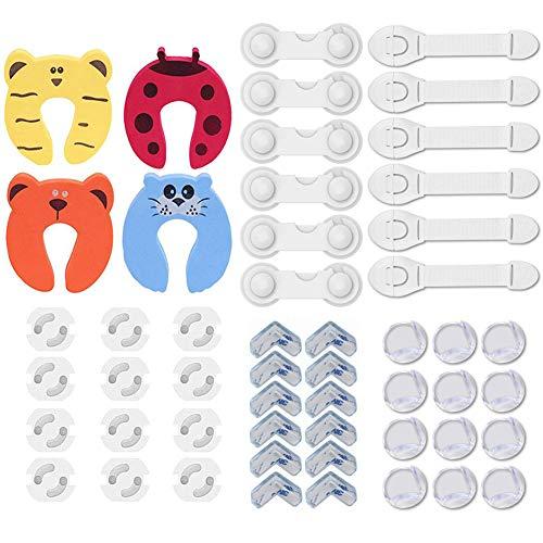 40 Piezas Kit de Seguridad para Bebés, 12 Cerraduras de Seg