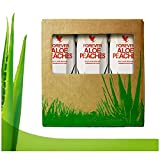 Forever Living Triple pack 3 x 1 Litre Aloe Vera Gel, Blueberry, Apple and Peach Pulp Flavour, 100% Natural Pure Drinking Juice