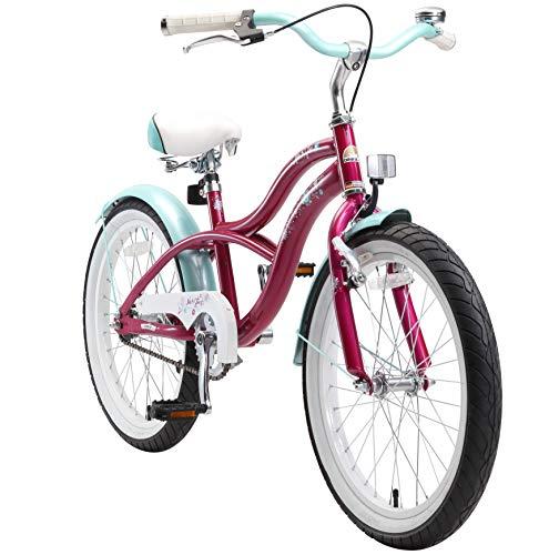 BIKESTAR Kinderfahrrad für Mädchen ab 6-7 Jahre | 20 Zoll Kinderrad Cruiser | Fahrrad für Kinder Violet | Risikofrei Testen